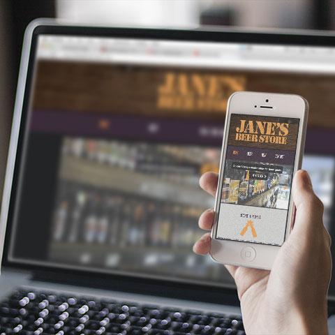 Jane's Beer Store Website